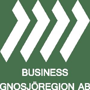 Vit och transparent logga på Business Gnosjöregion AB