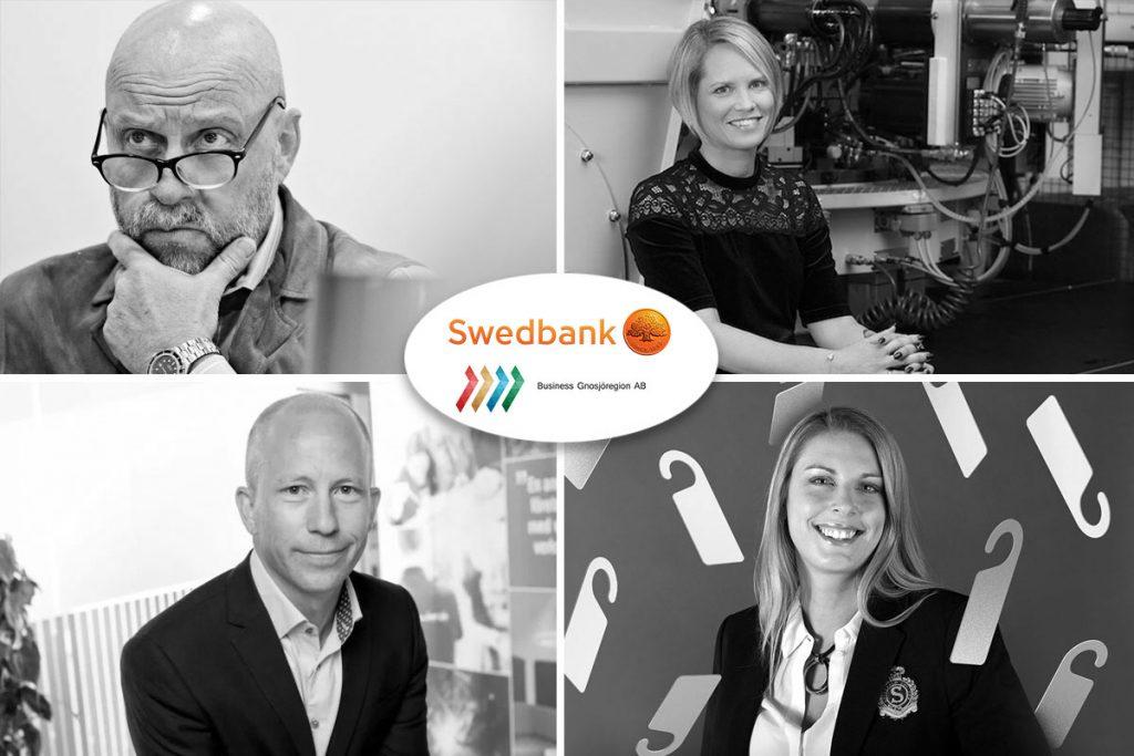 Bilden visar talarna under frukostmötet som BGR och Swedbank arrangerar